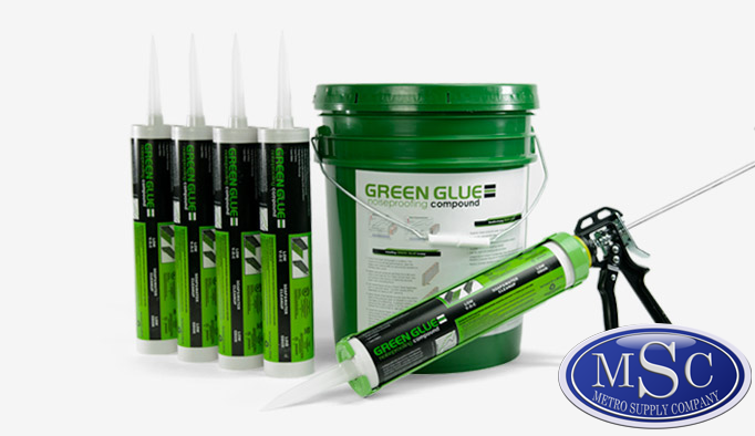 New York & New Jersey's Local Source for Green Glue Noiseproofing Compound.  Metro Supply is a fully stocking distributor of Green Glue in both pails and tubes!